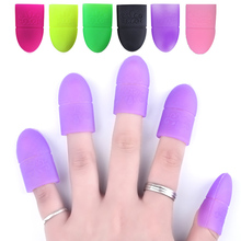 5 Pcs/set Silicone Nail UV Gel Polish Remover Wraps Kits 6 Colors Available Reusable Soak Off Cap Clip Manicure Nail Art Tools(China)