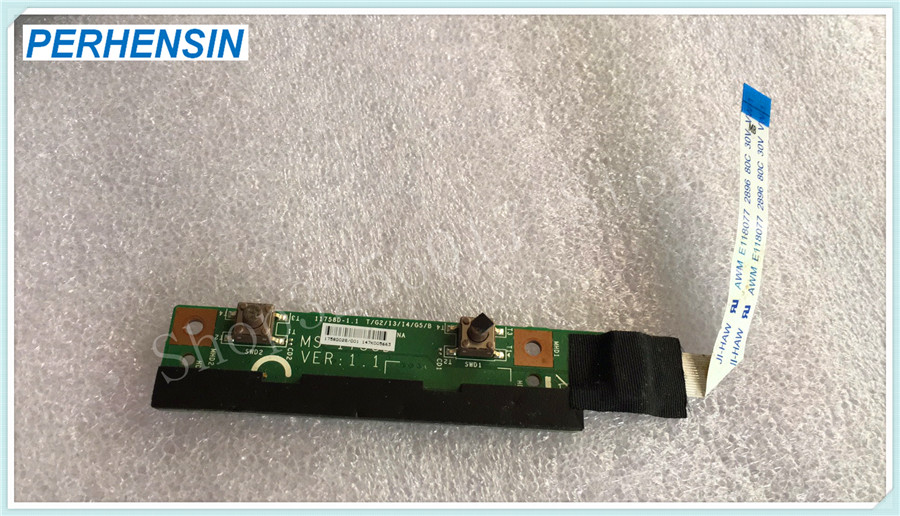Genuine For MSI GP70 MS-1758 17.3 laptop Power Button Media Board w Cable MS-1758D <br>