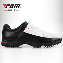 PGM Men's Golf Shoes Leather Sports Footwear Spike Golf Shoes Waterproof Male Sports Sneakers Plus Size Golf Shoes Free Shipping(China)