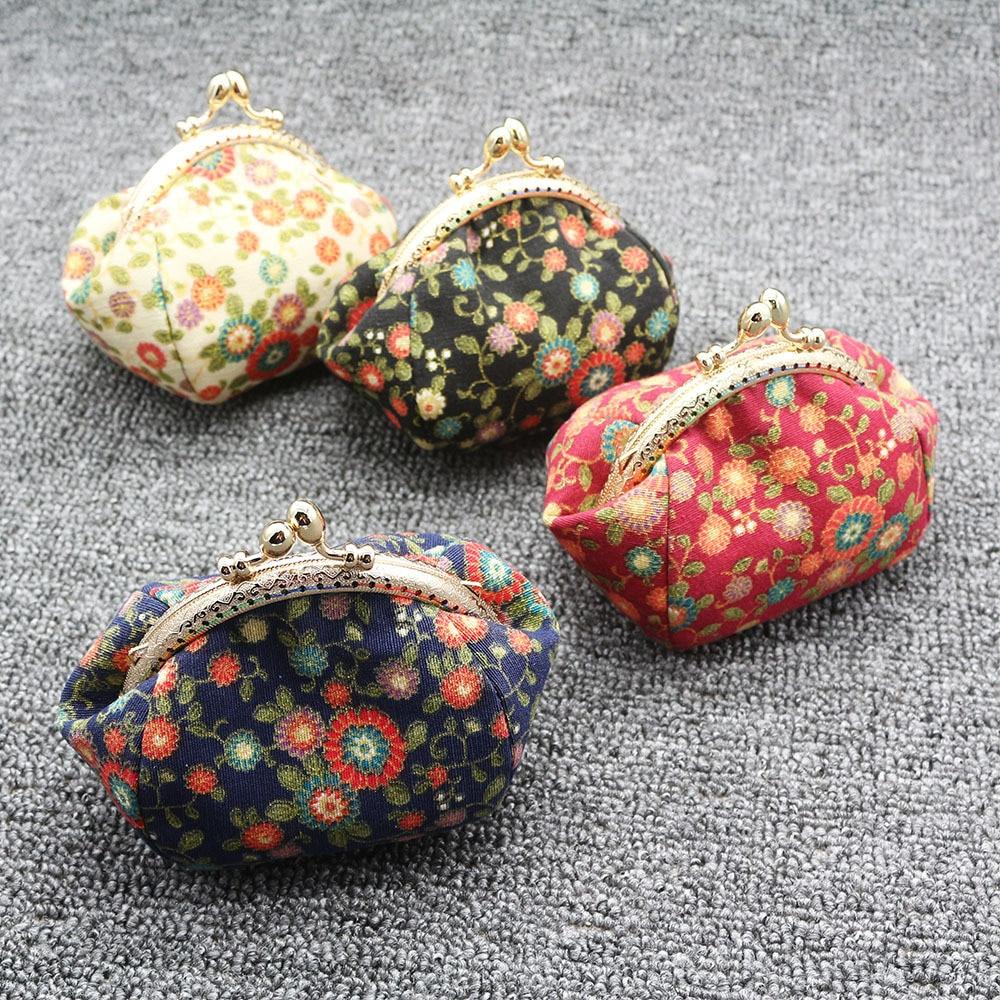 Mini Coin Purse Kiss Lock Girls  Change Purse Hasp Wallet women lady flower bags  (2)