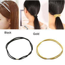 3 PCS Fashion Elastic Headband Head Piece Hair Band Hairband Jewelry for Women Girl Lady Black/Golden