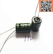 30pcs/lot T10 25V 470UF Low ESR/Impedance high frequency aluminum electrolytic capacitor size 8*12 470UF25V(China)
