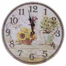 Vintage Antique Style 34cm Wall Clock Home Bedroom Retro Kitchen Quartz  (Pattern: Sunflower)