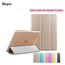 Protable Silk Leather Flip Smart Case for Apple Pad 234/ 5 Air 1 /6 Air 2 /Mini 1 2 3 4  Back Cover Coque Sleep Stander Function