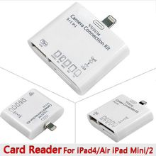 HOT 5 in 1 Camera Connection USB SD/TF Card Reader Kit For iPad mini iPhone Party Supplies