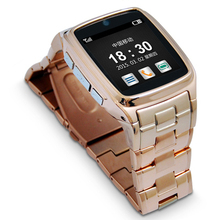 Top quality woman rose color smart wearable watch phone classic design with FM/MP4/Photo best gift for girlfriend