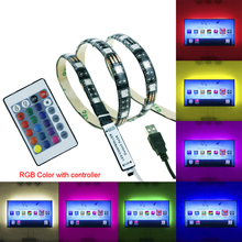 5050 USB Led Strip 5V 60led/M 1M 2M 3M 4M 5M light Waterproof tiras for TV Background Computer home car kid room decor TR