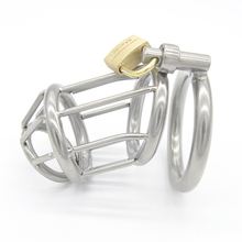 Buy Stainless Steel Chastity Belt,Penis Cage,Cock Rings Sleeve,Male Chastity Device Padlock ,Adult Game BDSM Sex Toys Men