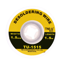 TU-1515 Professional Welding Wires 1.5mm Solder Wick Precision Desoldering Wire Accessories Braid Handy Soldering Wick(China)