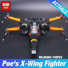 2016 LEPIN 05004 Star Wars First Order Poe's X-wing Fighter Assembled Toy Building Block Compatible With gift 75102