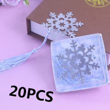 20Pcs Bulk Personalised Kids Party Favor Snowflake Bookmark Baptism Baby Shower Birthday Souvenirs Wedding Favour Birthday Gifts(China)