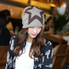 Women 's Korean version  five - pointed Star cap head warm winter head fashion maternity cap Skullies & Beanies