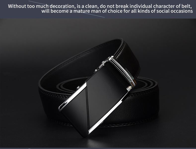 حزام COWATHER جلد طبيعي للرجال ذو جودة عالية 11