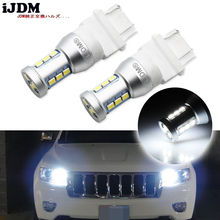 iJDM 1400 Lumens Xenon White 144-SMD 3157 3357 3457 4114 3156 T25 LED Bulbs For 2011-up Jeep Compass For Daytime Running Lights(China)