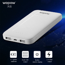 Buy WOPOW P100 Power Bank 10000mah Large Capacity Dual USB Port quick Charge Pwerbank Portable External Battery iPhone Xiaomi for $16.98 in AliExpress store