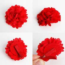 New Kids Headdress Hairpins Cute Girls High Quality Red Lovely Flower Bouquet Newborn Princess Hair Accessories Hair Clips