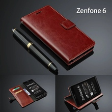 Flip Cover Case For ASUS Zenfone 6 Ultra Thin Card Holder Phone Leather Wallet For Zenfone 6 Case Cover Fundas zenfone6 6.0(China)
