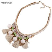 Buy Top Sales New Fashion Jewelry Bib Crystal Statement Pendant Chain Choker Collar Necklace Bohemia Tassel Necklace Women for $6.16 in AliExpress store