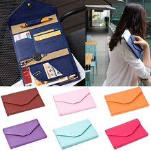 2016 New Design Credit ID Card Holder Travel Passport Cash Organizer Bag Purse Wallet Handbags Gifts