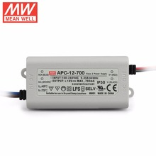 Mean Well APC-12-700, 12W 9~18V 700mA  LED Waterproof Driver, Single Output Switching Power Supply