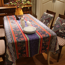 New nationality printed cotton Square rectangle embroidery Tablecloth table cloth dinner mat Mat table cover wholesale FG256-3