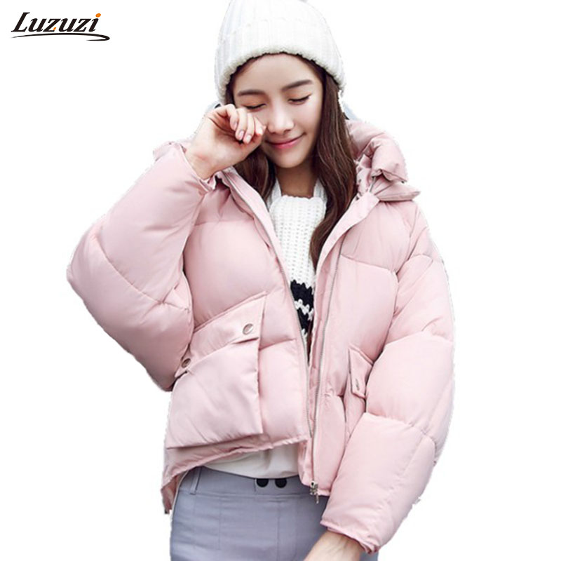 1PC Winter Jacket Women Parka Cotton Padded Short Coat Jaqueta Feminina Inverno Chaquetas Mujer Loose Hooded Outerwear Z483Îäåæäà è àêñåññóàðû<br><br>