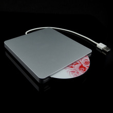 Notebook Type Suction External DVD Burner Box Super Slim USB 2.0 Slot In DVD RW DVD Writer External Drives Box Wholesale