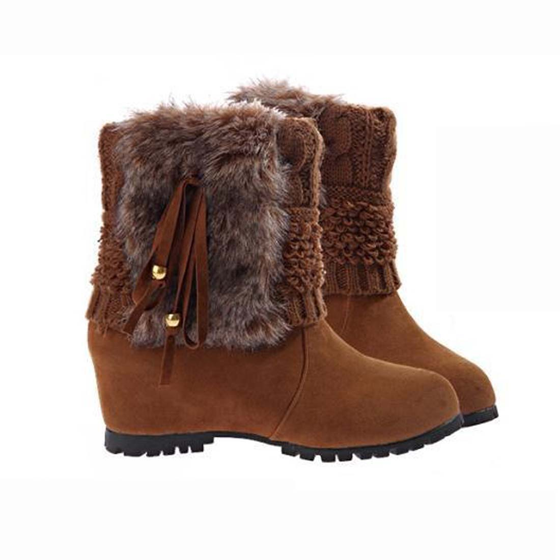 2017 New Arrival Women Winter Boots Botas Femininas Plush Fur  Warm Snow Boots Fashion high wedges Ankle Boots<br><br>Aliexpress