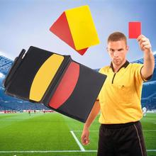 NEW Football Referee Penalty Red/Yellow Cards Judge Soccer Wallet Pencil Notebook Set useful portable Sport equipment
