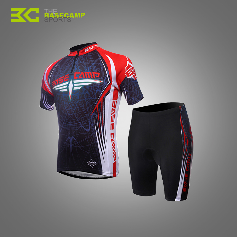 BASECAMP Cycling Jersey Short Sleeve Men Breathable Shorts Set Cloth Professional Gel Pad Mountain Road Bicycle Bike Suits H5071<br>