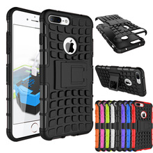 Rugged TPU Plastic Hybrid Heavy Duty Armor Phones Case For Apple iPhone 4 4S 5C 5 5S 6 6s 7 Plus 7Plus Shock Proof Back Cover