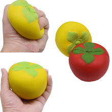Jumbo Soft Squishy Pastoral Style Tomato Charms Slow Rising Kids Toy Phone Strap Plush Animals