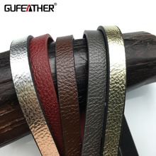 GUFEATHER 10MM New Flash leather cord/jewelry accessories/jewelry findings/jewelry materials/leather lace/bracelet findings