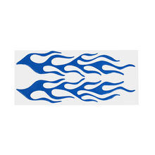 EDFY-Flame Fire Design Decal Sticker Blue(China)