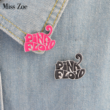 Miss Zoe PINK FLOYD pink black Brooches Button Pins Denim Jacket Pin Badge for Bag T-shirt Jewelry Gift for Fans Friends(China)