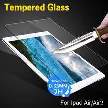 9H Tempered Glass Screen Protector For iPad Air 2 Glass Protective Film For ipad air 2 Explosion-Proof Glass For Apple ipad Air(China)