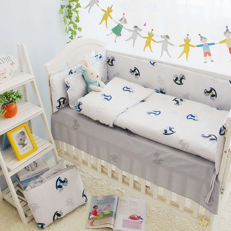 4PCS Customized Size Unisex Baby Bedding Boy Sets In Cot 100% Cotton Crib Bedding Sets For Girls In a Crib For Newborn Baby<br><br>Aliexpress