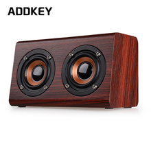 ADDKEY 2017 Wooden Bluetooth speaker suitable for mobile phone notebook speaker PC socket TF card/AUX mini speaker bass sound(China)