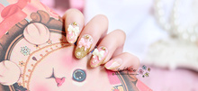 Wedding Nails Sweet Princess Pink Designed Long Fake Nails 24pcs Bow Tie Oval Press on Nail Tips for Party Faux Ongles Pieds(China)