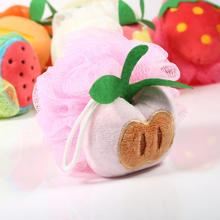 Colorful Fruit Bath Sponge Lace Mesh Pouf Bathroom Towel Soft Bath Flower Body Shower Bath brush(China)