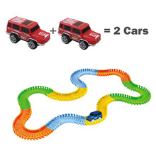 Luminescent LED Diecasts & Toy Cars Light-Emitting Track And Toy Car For Boys 100/165/220/240PCS Interesting Toys 2017 Hot