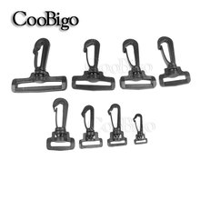 5~500pcs Pack Plastic Swivel Snap Hooks Buckle Hardware Outdoor Backpack Straps Webbing Bag Parts #FLC015