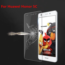 For Huawei Honor 5C/Honor 7 Lite/GT3 Case Ultra Thin 0.26mm 2.5D Premium Glass Screen HD Protective Film Cover For Honor5C