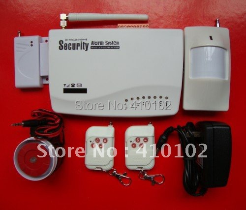 wholesale 900/1800/1900 MHZ Wireless GSM Home Alarm System+ Russia Manual<br>
