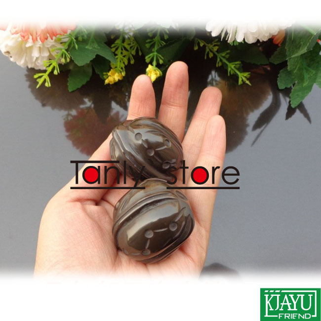 Wholesale and Retail Traditional Acupuncture Massage Tool / Natural Bian-stone / Fitness ball/Massager / Scrapping 2pieces/set<br>