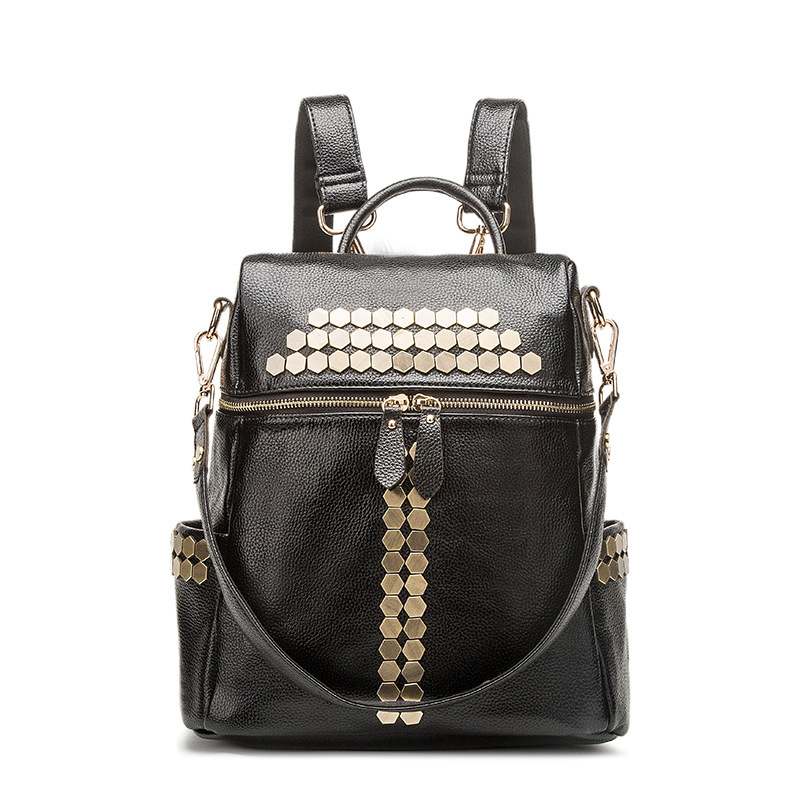 Fashion Genuine Leather Backpack Women Bags Preppy Style Backpack Girls School Bags Zipper women mini backpack<br>