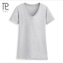 Brand-Clothing T Shirt Women Short Sleeve Womens Tops Tee Shirt Women V-neck T-Shirt 100% Cotton New Plus Size Tshirt #V0(China)