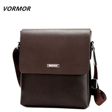 VORMOR 2017 Promotion Designers Brand Men's Messenger Bags PU Leather Vintage Men Shoulder Bag Man Crossbody bag(China)
