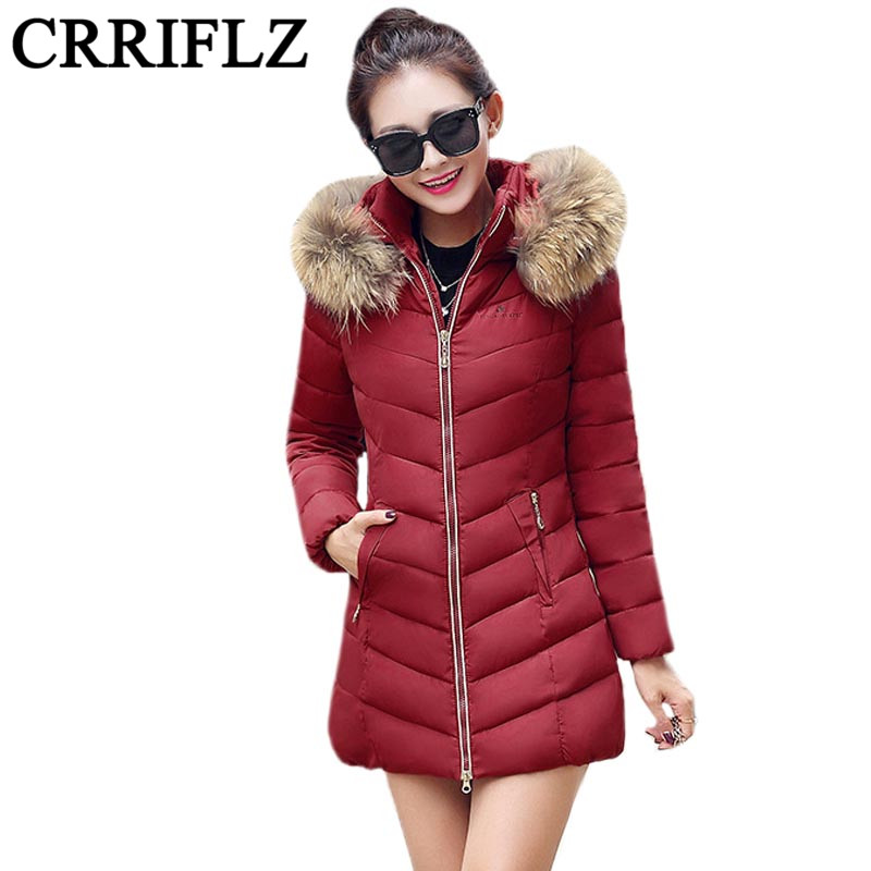 2017 New Womens Cotton Jacket Girls Long Fashion Slim Nagymaros Collar Down Padded Coat Female Womens Winter Jacket IF872Одежда и ак�е��уары<br><br><br>Aliexpress