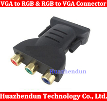 Brand New VGA to RGB & RGB to VGA Connector VGA ADAPTER Free shipping High Quality 50pcs